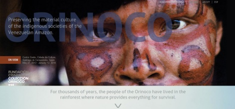 Screenshot of Orinoco.org website